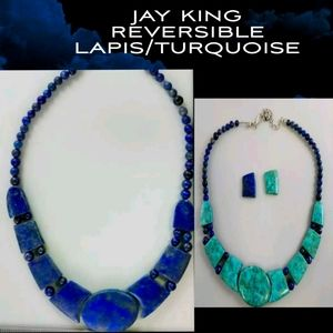 JAY KING REVERSIBLE GENUINE STONES NECKLACE